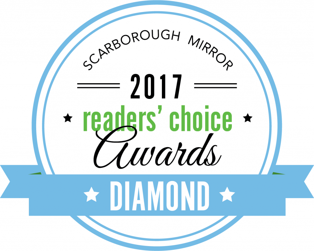 Scarborough Mirror Readers Choice Diamond Award in 2017