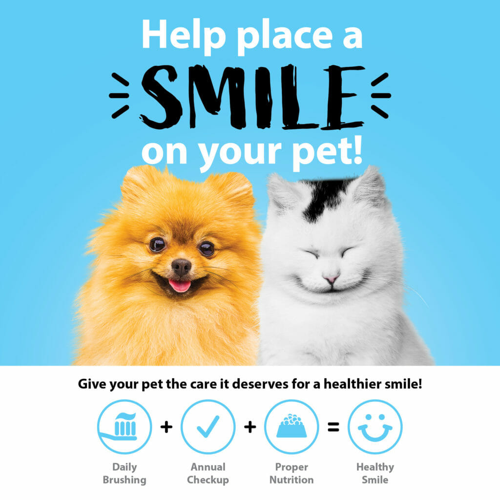 Help place a smile on your pet poster